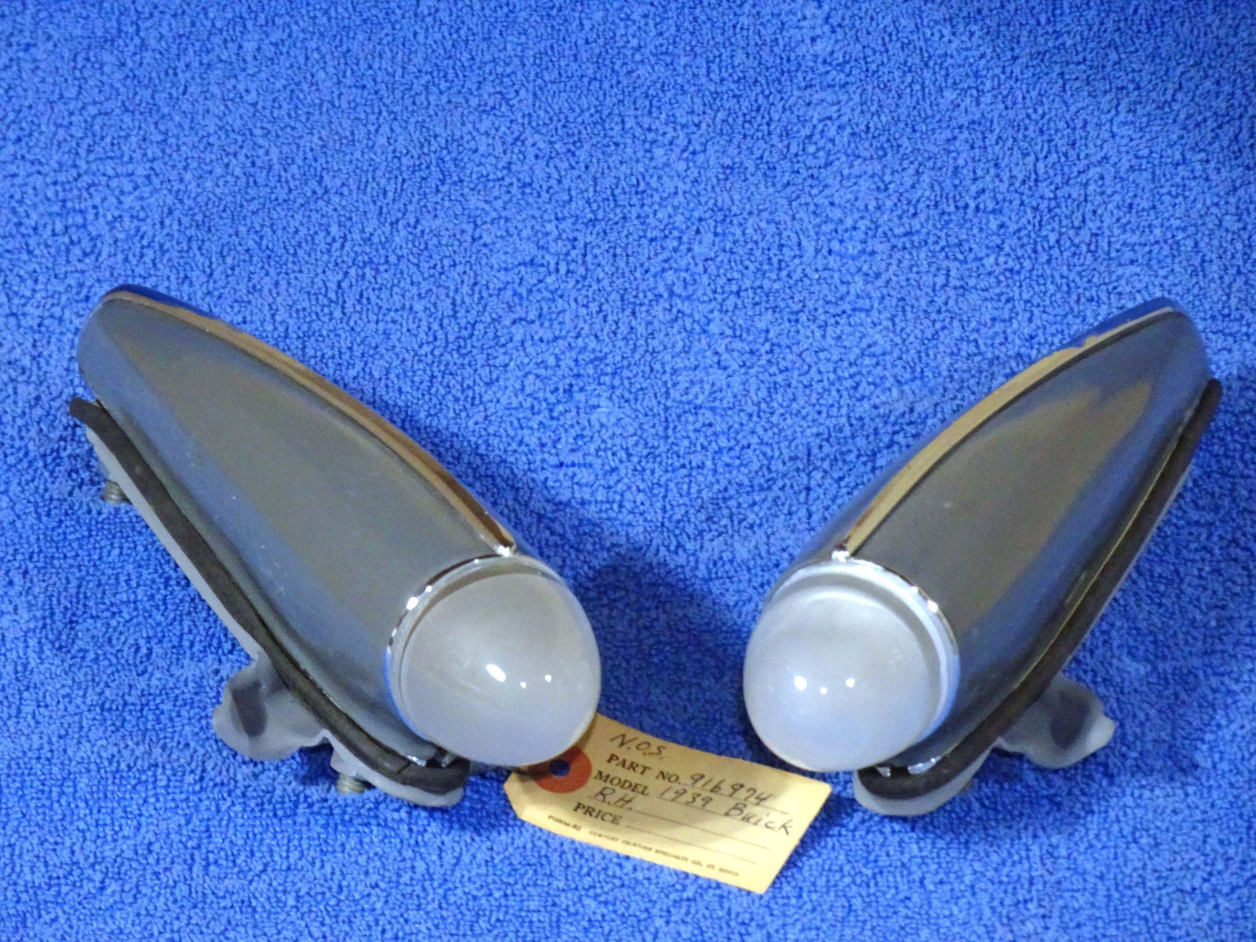 "Fits: 1939-40 Buick Series 40 Pair 80 2/""W x 17-3//8/""L 90 60 Park Light Pads"