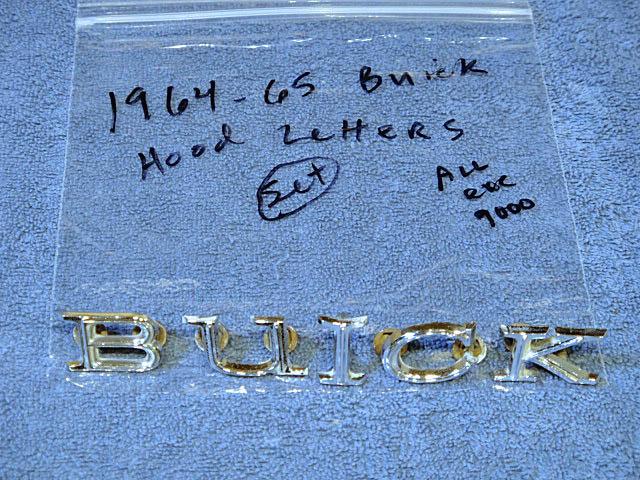 1964-1965 Buick Skylark GS Chrome Hood Letters NICE